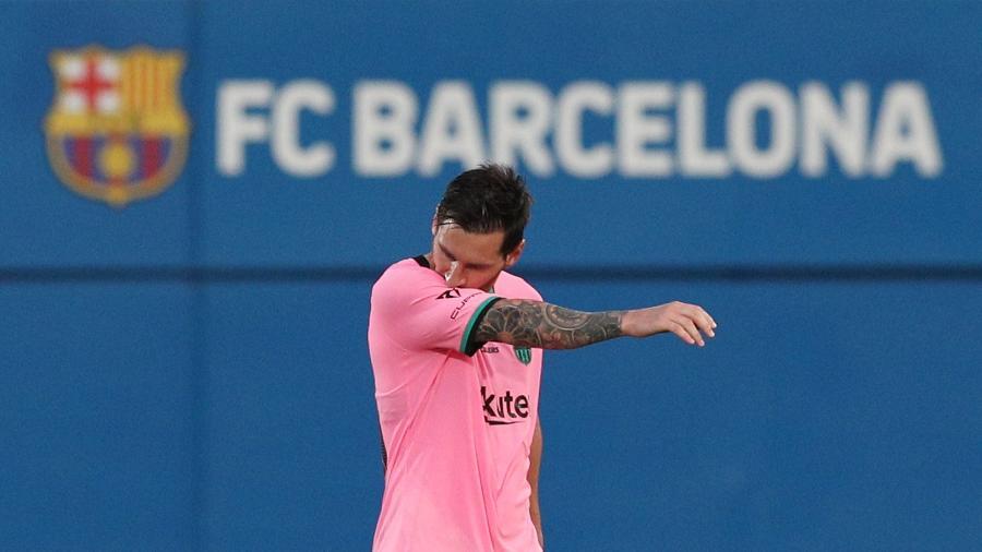Lionel Messi durante amistoso de pré-temporada do Bracelona; argentino pode deixar o clube de graça em junho -