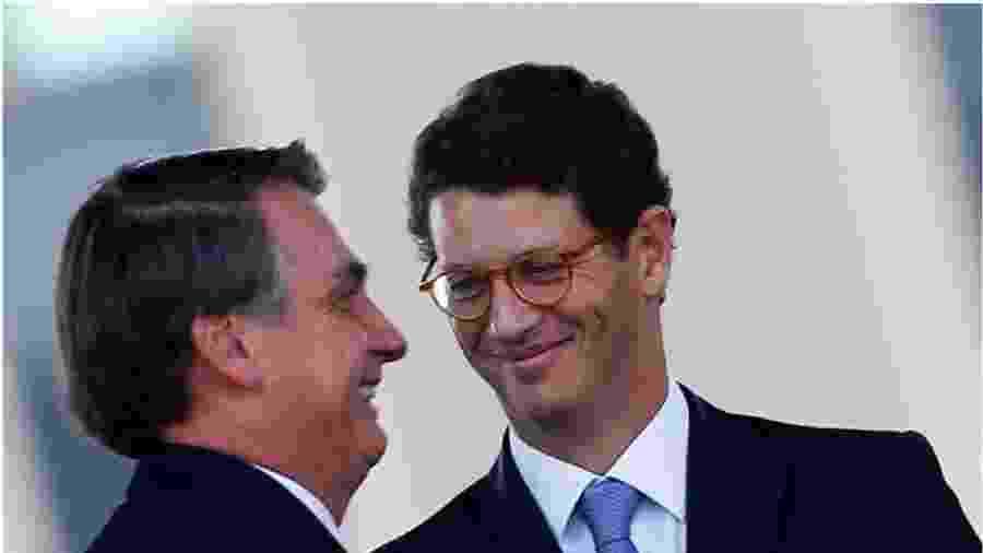 Bolsonaro e o ministro Ricardo Salles, do Meio Ambiente - Reprodução