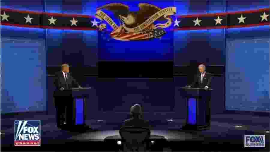 Frame de vídeo do debate entre Trump e Biden - Reprodução/Youtube-Fox News