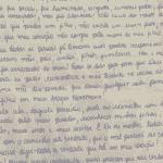 Carta de Monique para delegado, pedindo para ser ouvida mais uma vez antes de conclusão de inquérito  - Reprodução/Arquivo Pessoal