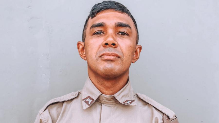 O policial militar Joanilson da Silva Amorim, de 33 anos, morto por engano pela polícia ao ser confundido com um criminoso - Policia Militar da Bahia