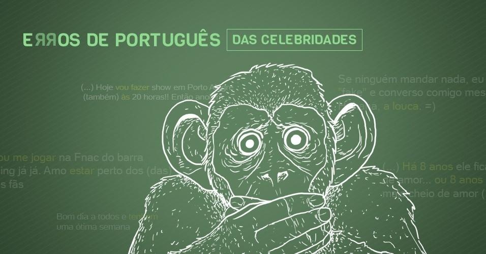 Capa erros de português cometidos por celebridades nas redes sociais