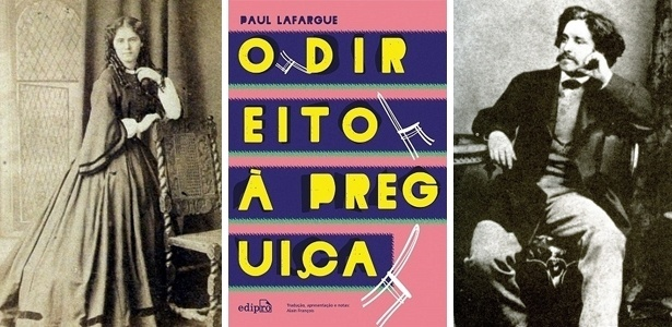 Laura (filha de Karl Marx), capa do livro reeditado e o autor, Paul Lafargue