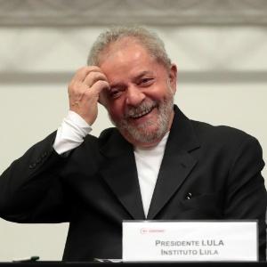 O ex-presidente Lula durante a Conferência Nacional dos Bancários, em São Paulo, nesta sexta-feira (29)