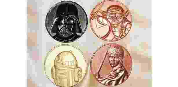 """Moedas com personagens dos filmes """"Star Wars"""" - Reprodução - Reprodução"""