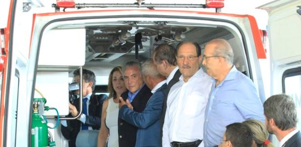 Temer participa da solenidade de entrega de 61 ambulâncias a prefeitos gaúchos para renovação da frota do Samu