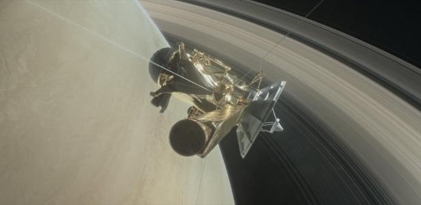 Cassini vai percorrer o espaço entre os aneis de Saturno em 22 mergulhos