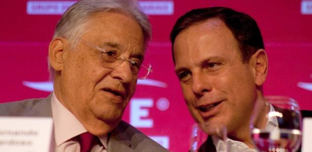 O ex-presidente Fernando Henrique Cardoso (PSDB) e o prefeito da capital, João Dória (PSDB), participam de almoço no Lide
