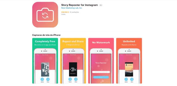 Story Reposter - Reprodução - Reprodução