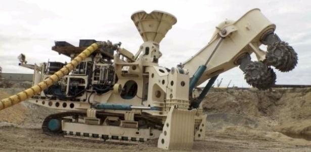 Máquina de perfuração que será usada pela empresa Nautilus Minerals para exploração de minérios no fundo do mar da Papua Nova Guiné