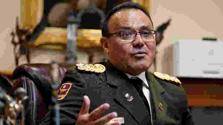26.jan.2019 - O coronel José Luis Silva, adido militar da embaixada da Venezuela nos Estados Unidos - Joshua Roberts/Reuters