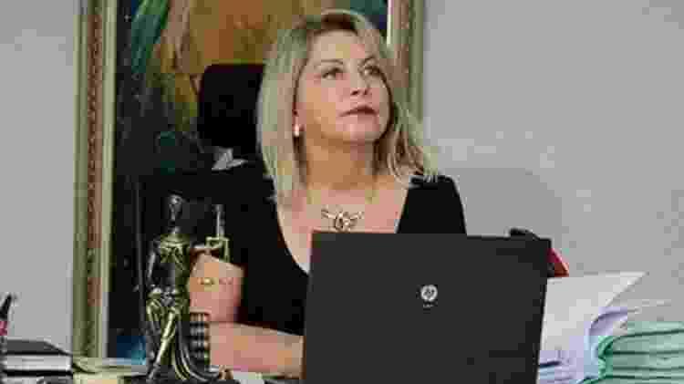 Na época em que ela era juíza da Vara Contra o Crime Organizado de Cuiabá - Arquivo Pessoal/BBC