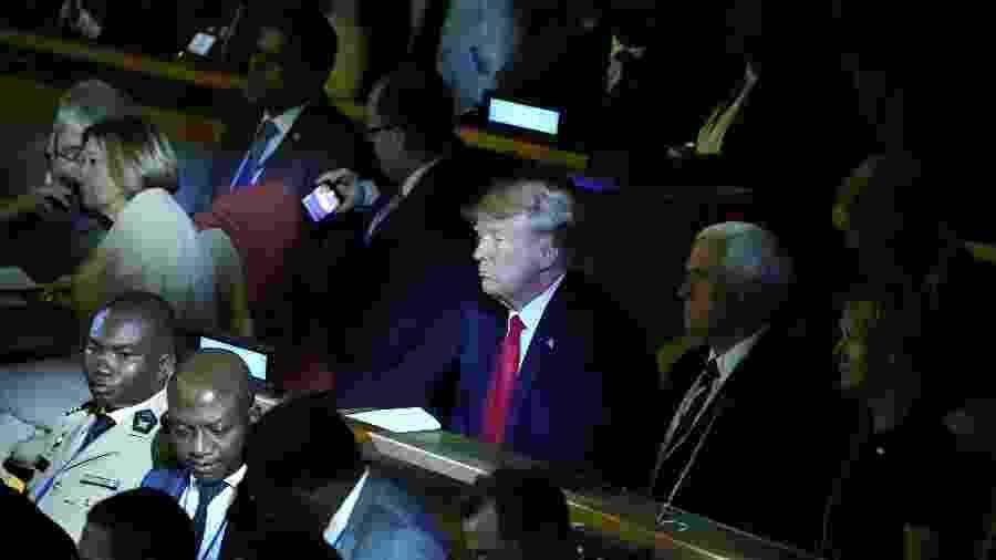 O presidente dos Estados Unidos, Donald Trump, assiste à cúpula do clima da ONU, em Nova York - Carlo Allegri/Reuters