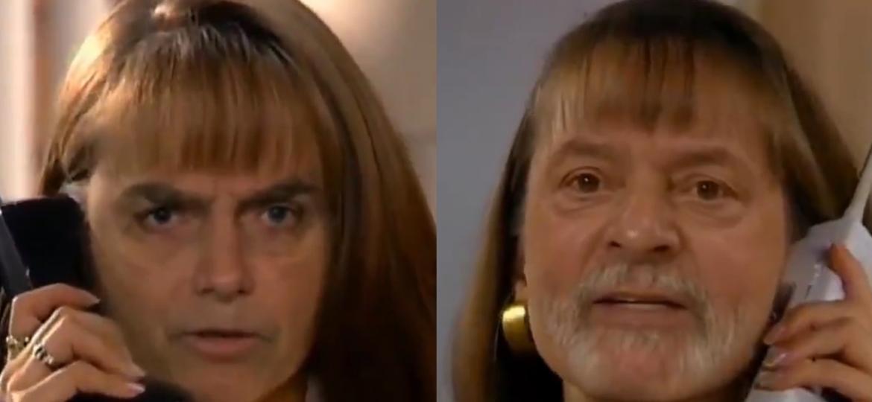 """Jair Bolsonaro e Lula """"protagonizam"""" cena de """"A Usurpadora"""" em vídeo deepfake - Reprodução/Twitter Brunno Sarttori"""