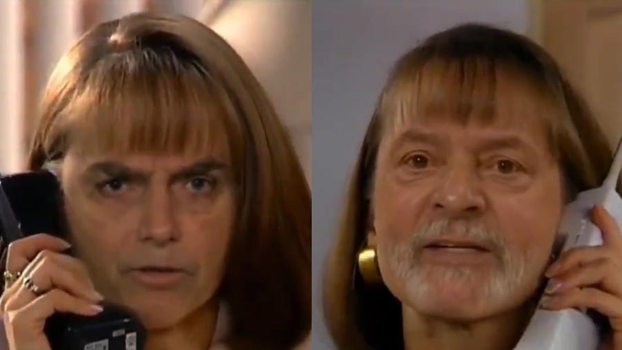 """Jair Bolsonaro e Lula """"protagonizam"""" cena de """"A Usurpadora"""" em vídeo deepfake - Reprodução/Twitter Bruno Sartori"""