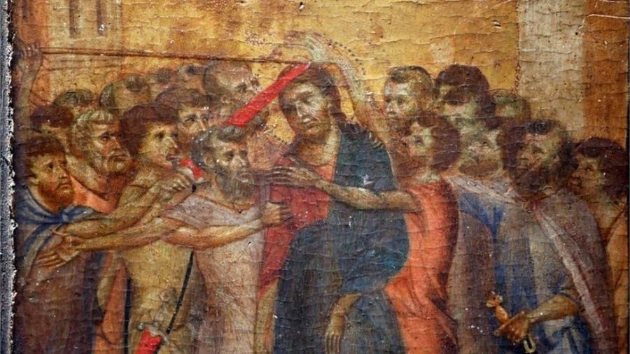 O Escárnio de Cristo é um dos três painéis de Cimabue que ainda existem; trabalhos são datados de 1280 - Reuters