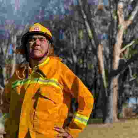 Charmaine Sellings, que fundou a brigada Lake Tyers Aboriginal Trust Country Fire Authority - CFA