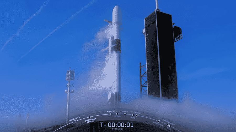 Falcon 9, da SpaceX, tem lançamento abortado - Reprodução/YouTube