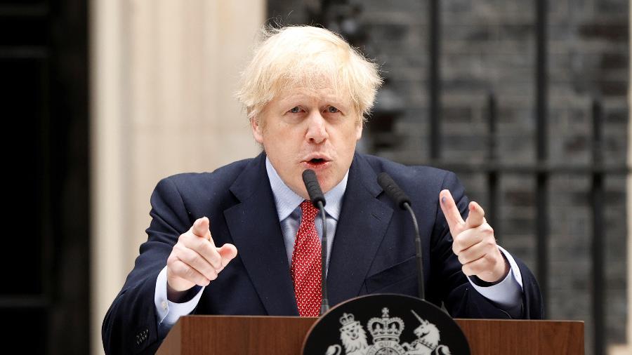 O primeiro-ministro britânico Boris Johnson  - John Sibley/Reuters