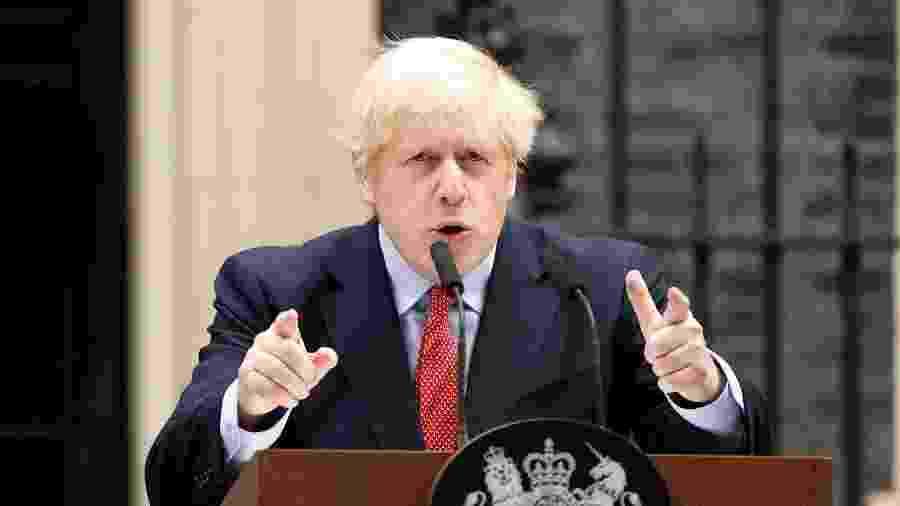 O primeiro-ministro britânico Boris Johnson foi um dos infectados pela covid-19 no Reino Unido - John Sibley/Reuters