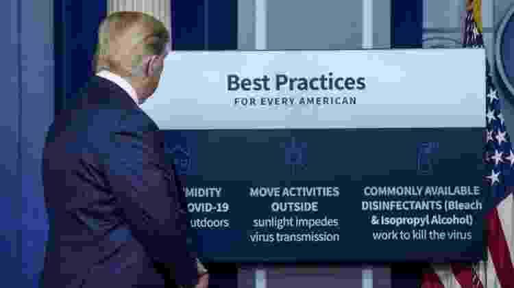Coletivas de imprensa do presidente americano têm sido fontes constantes de polêmicas - Getty Images - Getty Images