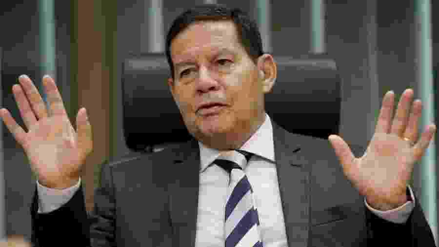 Vice-presidente defendeu fala de Bolsonaro que foi endossada pela Secom - UESLEI MARCELINO