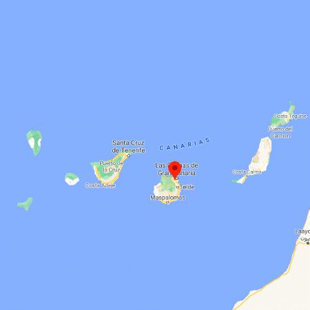 As Ilhas Canárias, território espanhol onde ocorreu o acidente - Reprodução/Google Maps