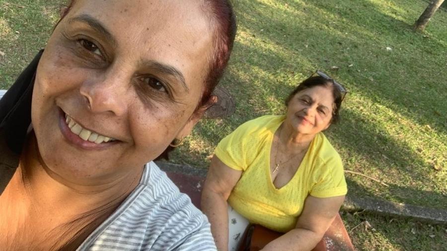 A merendeira Solange Pereiras e a mãe dela, Semiramis Oliveira, foram vítimas da covid-19 - Arquivo Pessoal