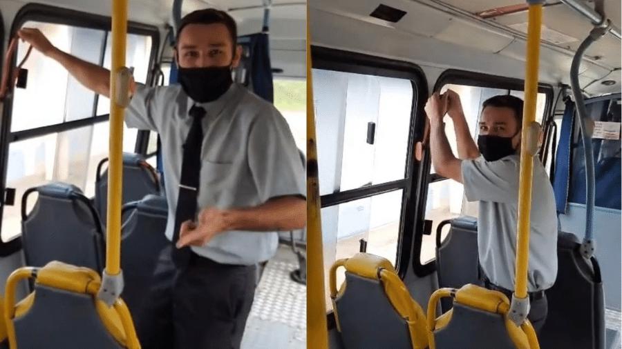Vídeo do motorista de ônibus angariou mais de 1,6 milhão de visualizações em apenas 1 dia - Reprodução/TikTok