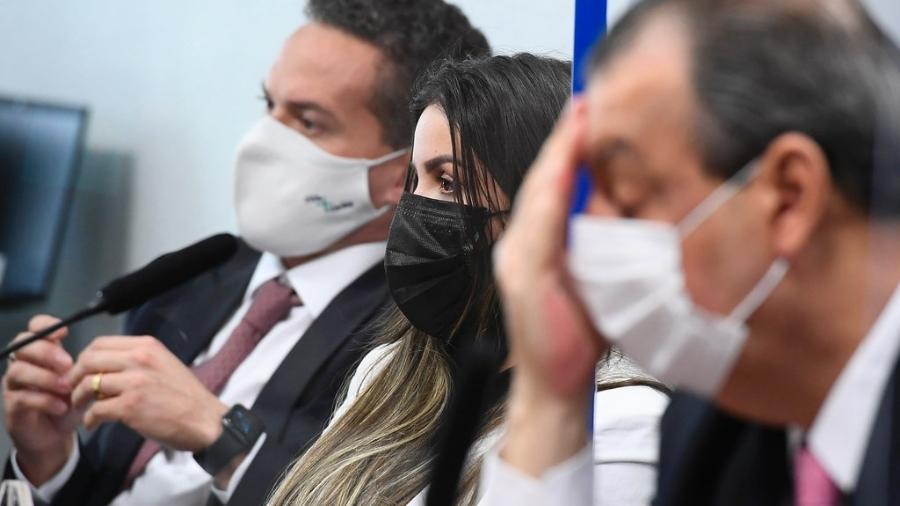 Emanuela Medrades, diretora técnica da Precisa Medicamentos, durante depoimento à CPI da Covid em 13 de julho - Marcos Oliveira/Agência Senado