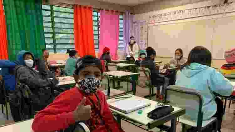 Volta às aulas em São Paulo. Aluno Christian - Ana Paula Bimbati/UOL - Ana Paula Bimbati/UOL
