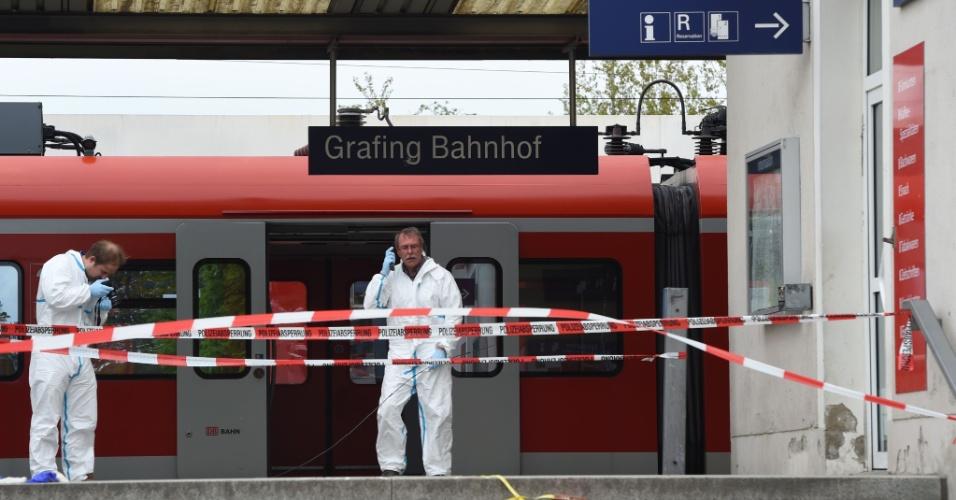 10.mai.2016 - Uma pessoa morreu e pelo menos outras três ficaram feridas em um ataque a facadas numa estação de trem nos subúrbios da cidade alemã de Munique