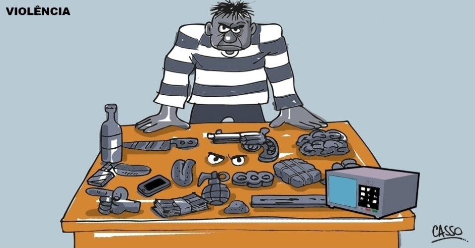 30.ago.2016 - Criminosos usam diferentes armas para garantir o sucesso