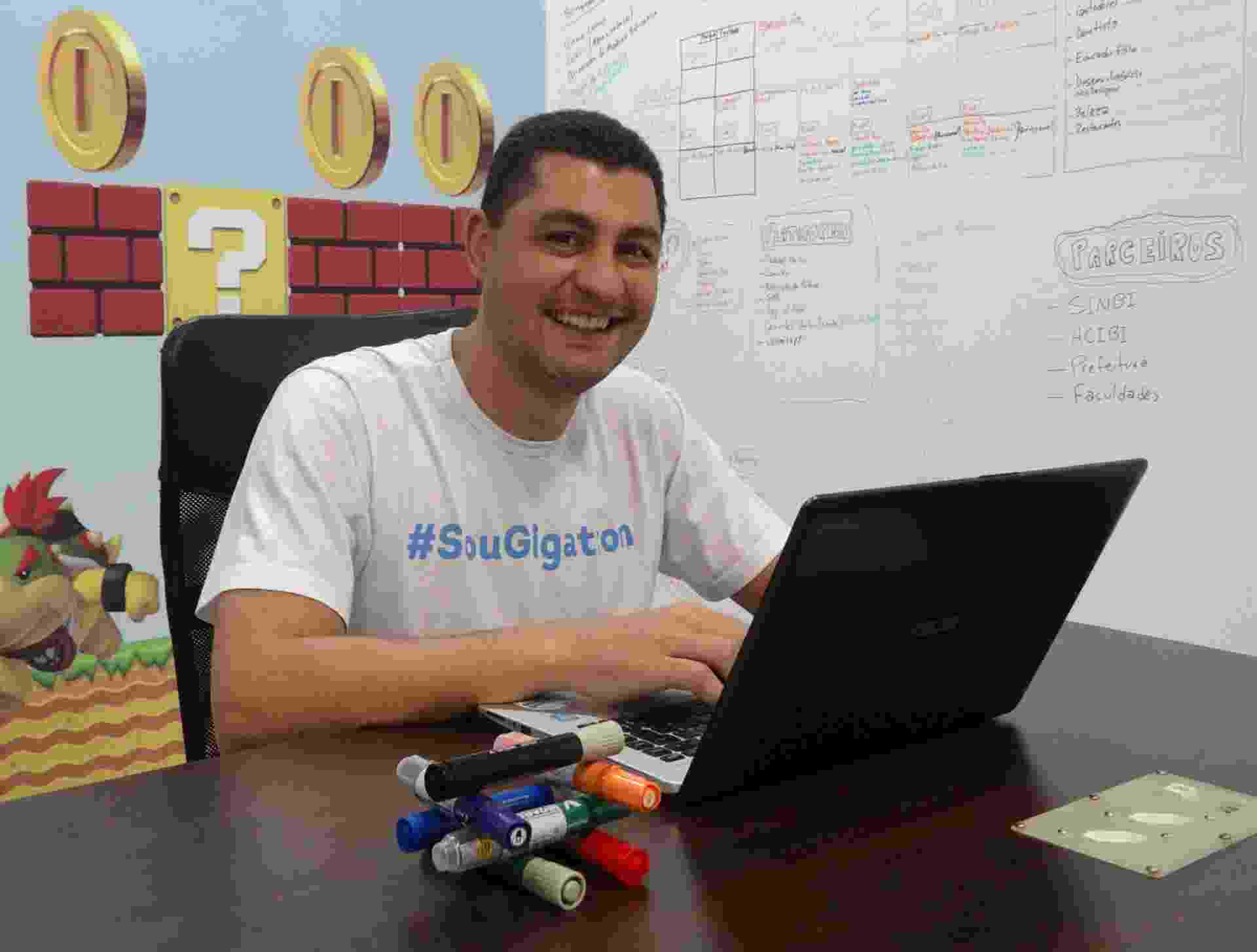Marcelo Salomão é dono da franquia Gigatron, que desenvolve softwares para o varejo e prestadores de serviços e emite certificados digitais - Divulgação