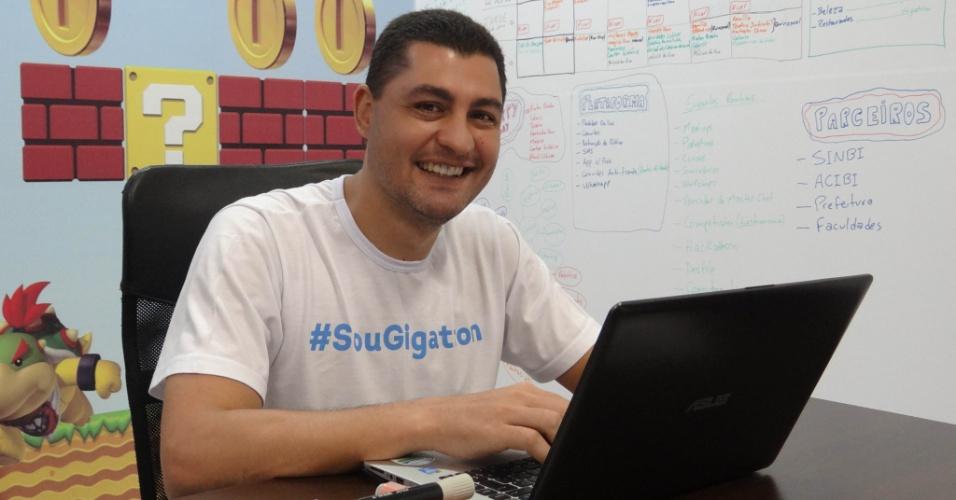 Marcelo Salomão é dono da franquia Gigatron, que desenvolve softwares para o varejo e prestadores de serviços e emite certificados digitais