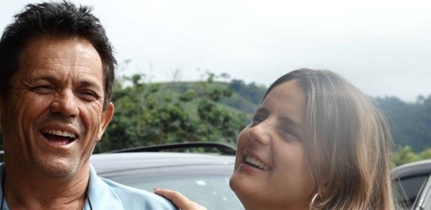 Manoel Peixe Gonçalves e a filha dele, a advogada Priscila de Souza Gonçalves