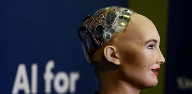 O robô ultrarrealista Sophia, desenvolvido pela Hanson Robotics