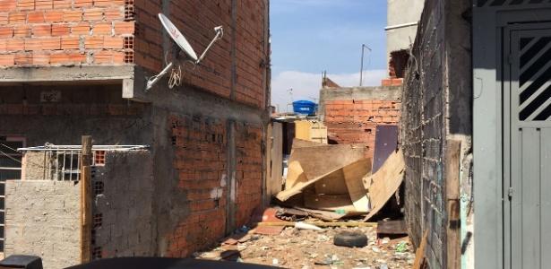 Terreno onde os corpos de duas meninas foram encontrados na zona leste de SP