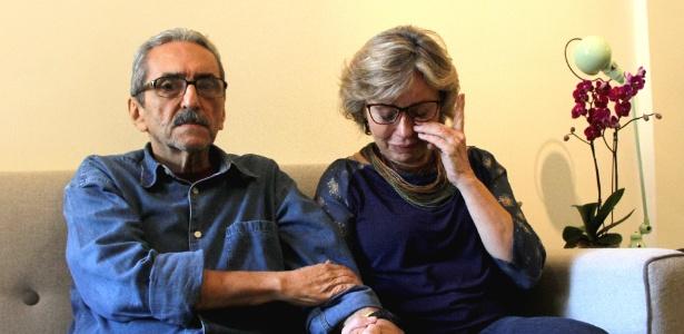 Mausy e Andrei Bastos, pais do estudante Alex Schomaker, morto durante tentativa de assalto em Botafogo, em janeiro de 2015 - Marcos Arcoverde/Estadão Conteúdo