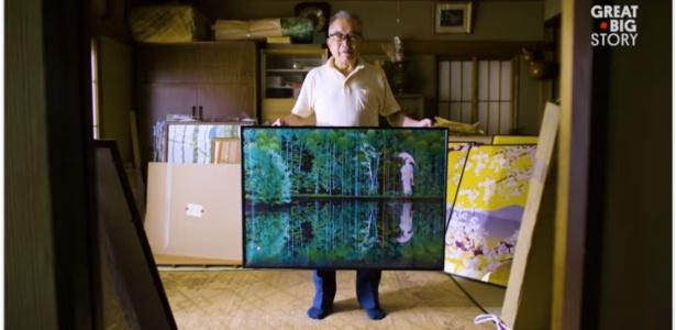 Artista japonês Tatsuo Horiuchi, que faz quadros no Microsoft Excel - Reprodução/Great Big Story