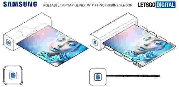 Segundo patente da Samsung, tela do aparelho ficaria escondida em uma barra. Curte? - Reprodução