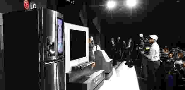 Refrigerador e televisão conectados - Divulgação