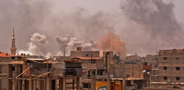 Ataque sírio a campo palestino ao sul de Damasco
