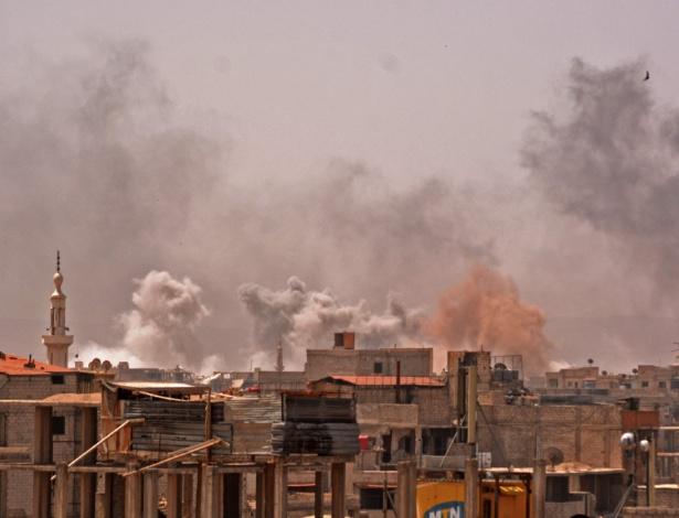 Ataque sírio ao campo palestino Yarmuk, sul de Damasco - Rami al Sayed/AFP
