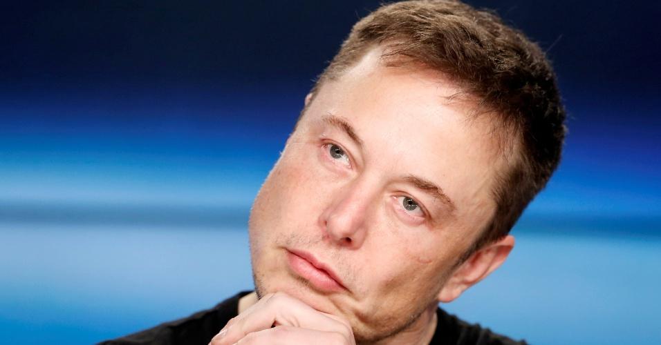 6.fev.2018 - Elon Musk no Cabo Canaveral, na Flórida