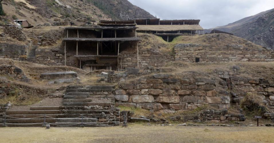 Sítio arqueológico de Chavín de Huántar, templo milenar nos Andes peruanos onde foi descoberto um conjunto de três galerias subterrâneas