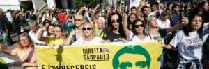 Manifestantes protestam neste domingo contra o PT e a favor de Bolsonaro (Foto: Alice Vergueiro/Folhapress)