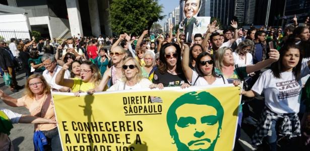 Manifestação no dia 9 de setembro deste ano a favor de Bolsonaro, em São Paulo