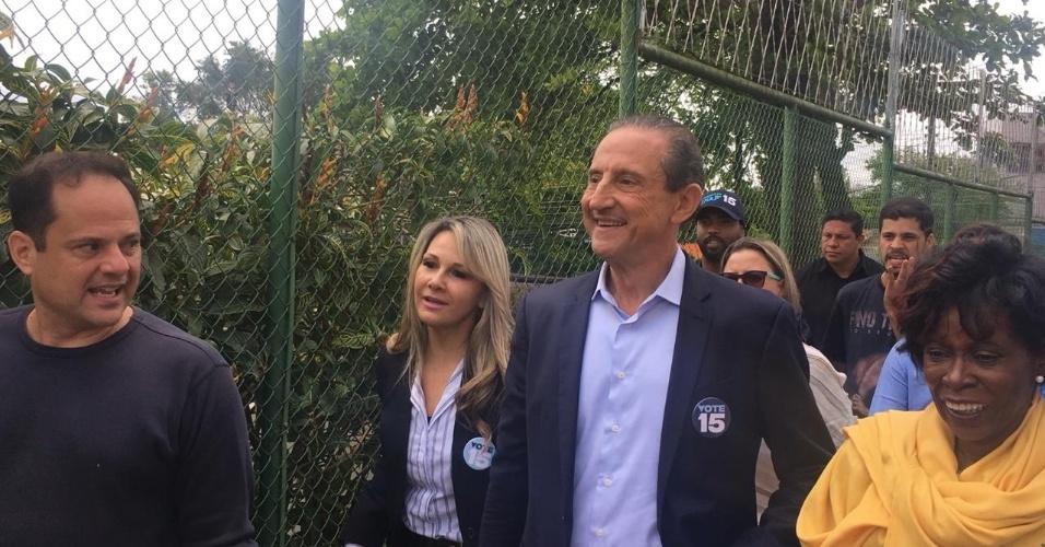 Skaf entre as candidatas a vice, tenente-coronel Carla e ao senado, Cidinha