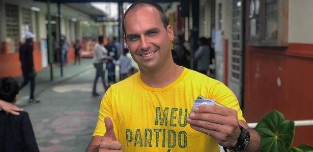 """Eduardo Bolsonaro diz que """"bastam um cabo e um soldado para fechar o STF"""""""